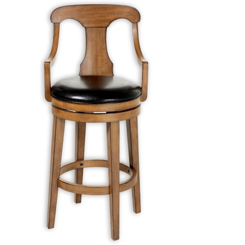 Fashion Bed Group Wood Barstools Traditional Albany Wood Barstool