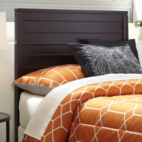 Morris Home Furnishings Wood Beds Twin Uptown Wood Headboard