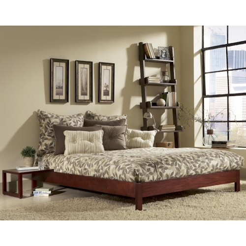 Fashion Bed Group Wood Beds Twin Murray Bed w/ Sidetable