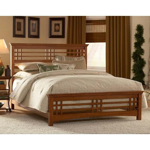 Fashion Bed Group Wood Beds California King Avery Bed w/ Wood Side Rails