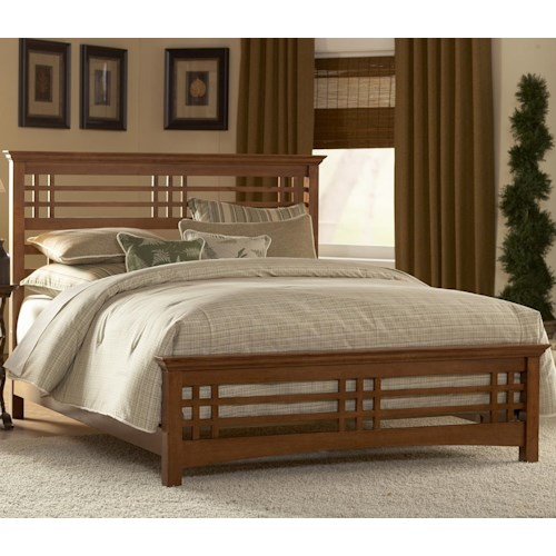 Morris Home Furnishings Wood Beds Queen Avery Mission Wood Bed