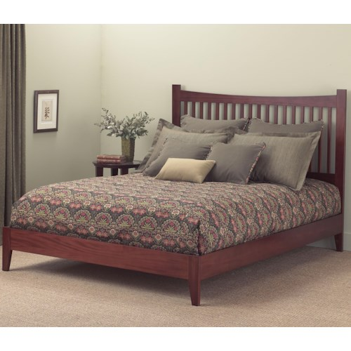 Morris Home Furnishings Wood Beds California King Jakarta Platform Bed