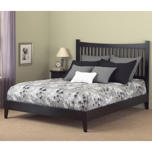 Fashion Bed Group Wood Beds California King Jakarta Platform Bed