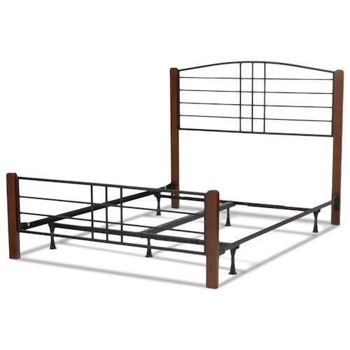 Morris Home Furnishings Wood Beds Cal King Dayton Wood and Metal Ornamental Bed