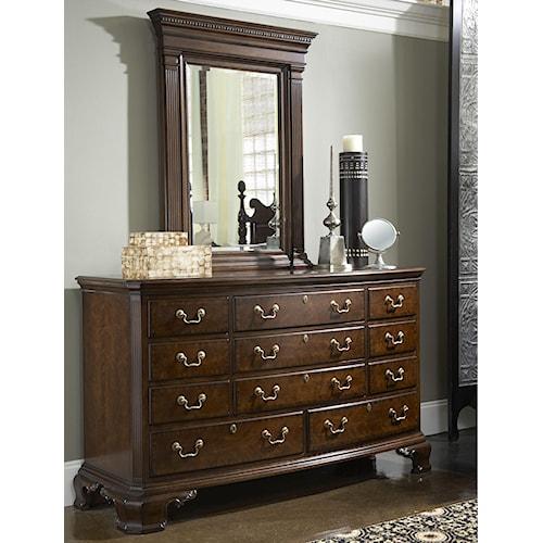 Belfort Signature Belmont Newport Dresser & Quincy Vertical Mirror Combination
