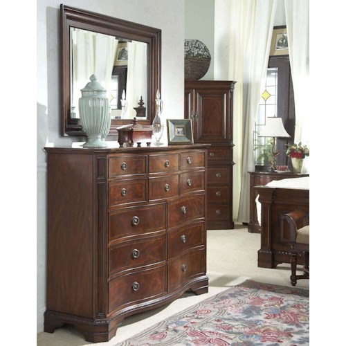 Belfort Signature Westview Classic Double Dresser with Landscape Mirror