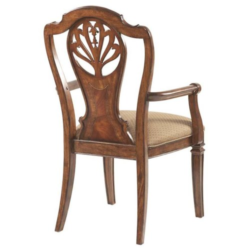 Belfort Signature Westview Decorative Splat Back Dining Room Arm Chair