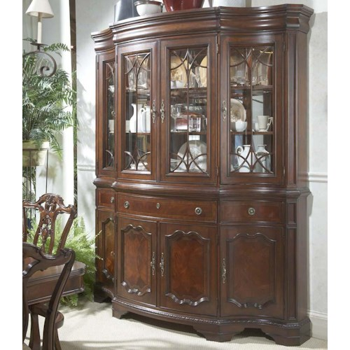 Belfort Signature Westview Traditional China Buffet & Hutch with Glass Doors and Shelves