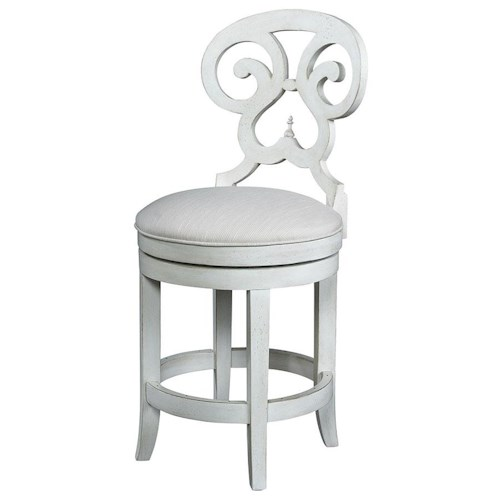 Michael Harrison Collection Summer Home Elegant Swivel Counter Stool