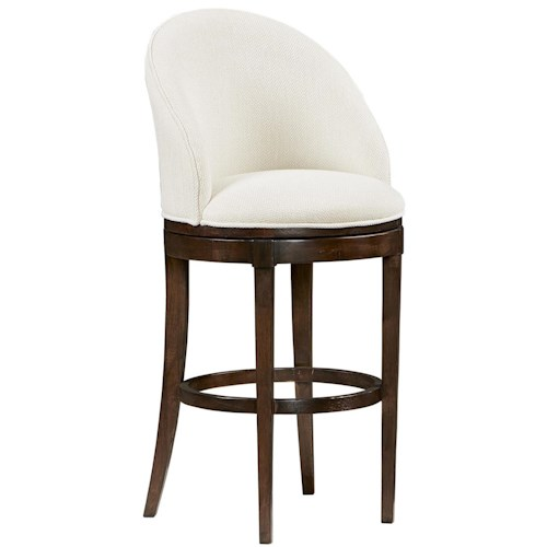 Michael Harrison Collection Textures Ryder Bar Stool with Upholstered Full Back