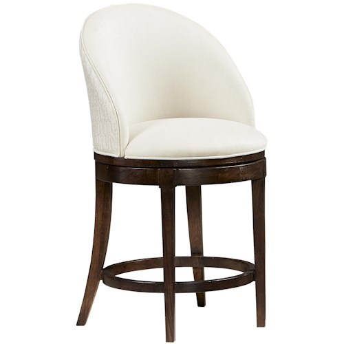 Michael Harrison Collection Textures Ryder Counter Stool with Upholstered Full Back