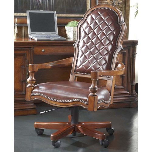 Belfort Signature Viniterra Swivel Tilt Chair with Leather Upholstery