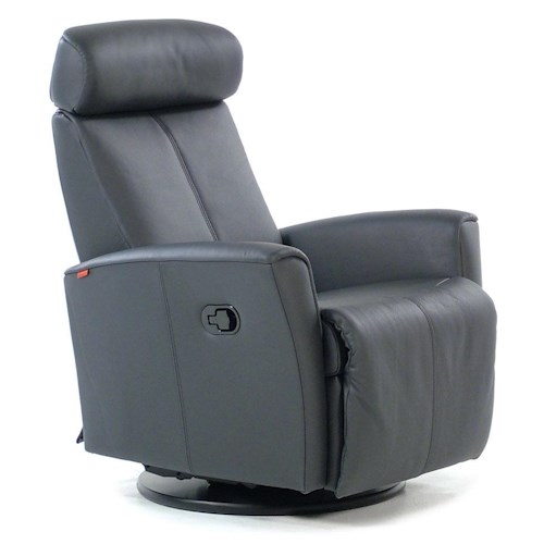 Fjords by Hjellegjerde Recliners Swing Relaxer Recliner : Astro Anthracite