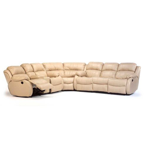 Flexsteel Latitudes - Brandon Leather Upholstered Sectional Sofa