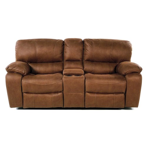Flexsteel Latitudes - Grandview Glide Reclining Love Seat w/ Center Console