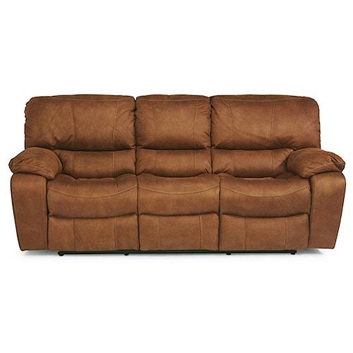 Flexsteel Latitudes Grandview Reclining Sofa With Plush