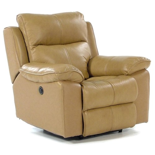 Flexsteel Butterscotch Power Recliner with Bustle Back