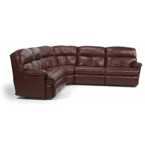 Flexsteel Triton Four Piece Power Reclining Sectional