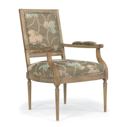 Flexsteel Accents Dorean Exposed Wood Chair with Nailheads