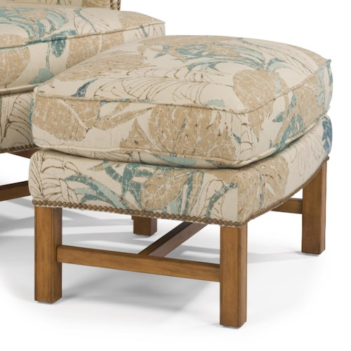 Flexsteel Accents Chancellor Ottoman with Nailhead Studs