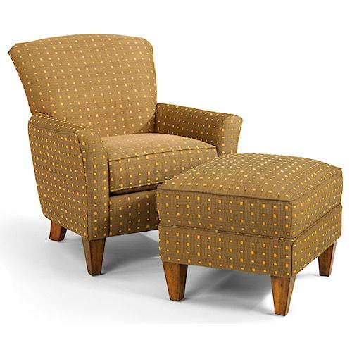 Flexsteel Accents Dancer Chair & Ottoman Set