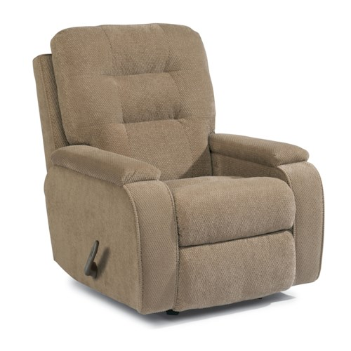 Flexsteel Accents Kerrie Wall-Saver Recliner with Channeled Back