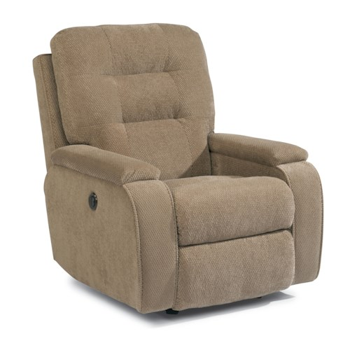 Flexsteel Accents Kerrie Power Wall-Saver Recliner with Channeled Back