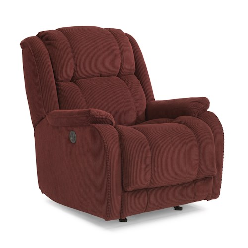 Flexsteel Accents Marcus Power Rocking Recliner
