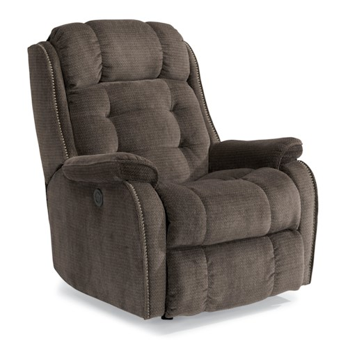 Flexsteel Accents Cassidy Power Rocker Recliner with Tufted Back