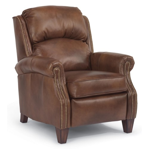 Flexsteel Accents Whistler High Leg Recliner with Nail Head Trim