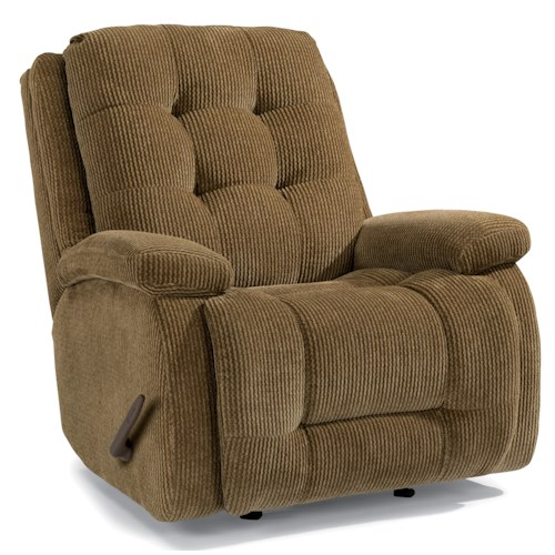 Flexsteel Accents Paxton Swivel Glider Recliner with Button Tufting