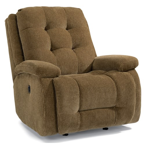 Flexsteel Accents Paxton Power Rocking Recliner with Button Tufting