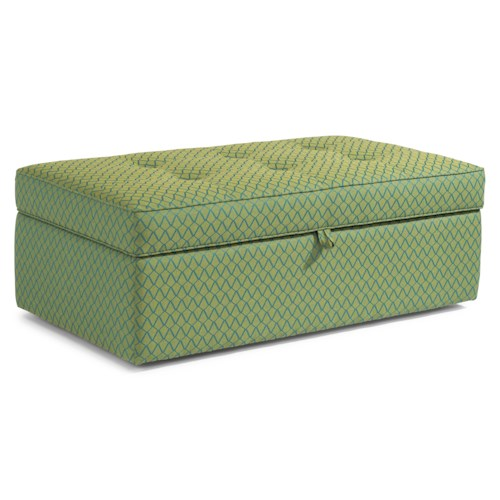 Flexsteel Accents Daphne Rectangular Storage Ottoman