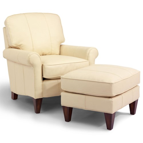 Flexsteel Accents Harvard Chair and Ottoman Set