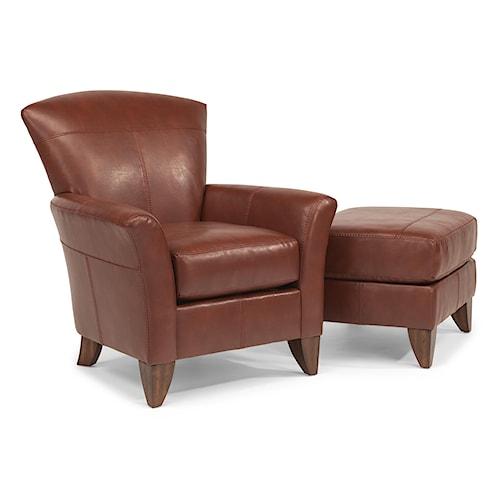 Flexsteel Accents Jupiter Chair and Ottoman Set