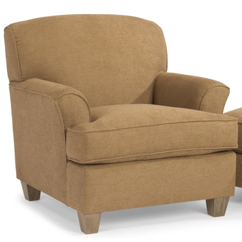 Flexsteel Atlantis Casual Chair with Rounded Flare Arms