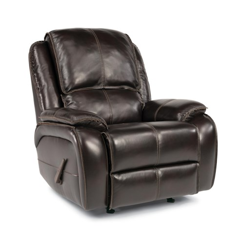 Flexsteel Latitudes - Avery Rocking Recliner with Pillow Top Arms