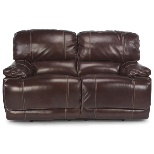 Flexsteel Latitudes - Belmont Power Reclining Loveseat with Pillow Arms