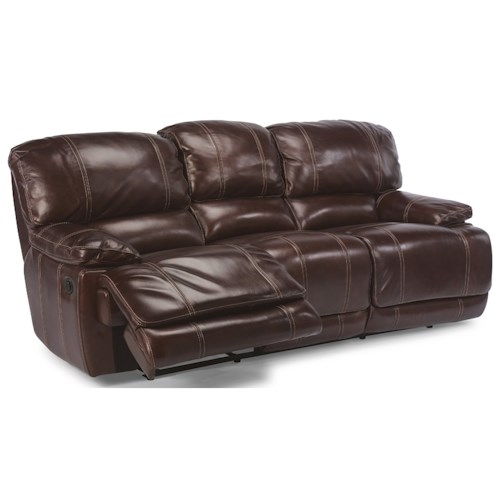 Flexsteel Latitudes - Belmont Reclining Sofa with Pillow Arms