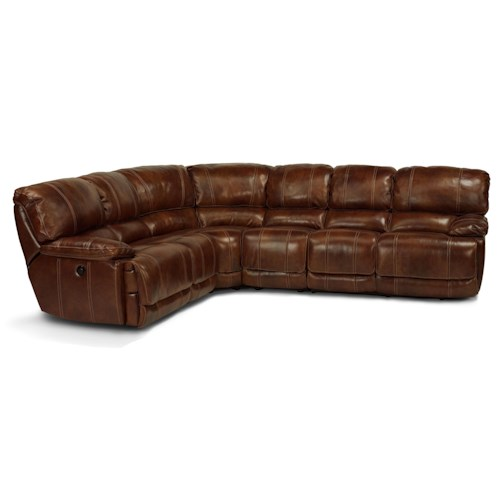 Flexsteel Latitudes - Belmont Four Piece Power Reclining Sectional Sofa