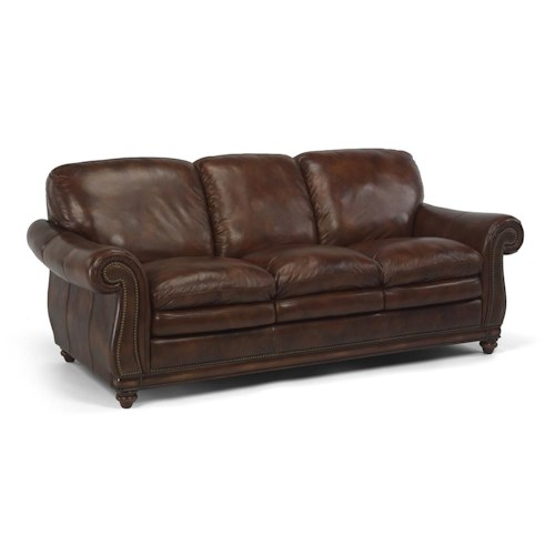 Flexsteel Latitudes - Belvedere Traditional Nail Head Trim Sofa