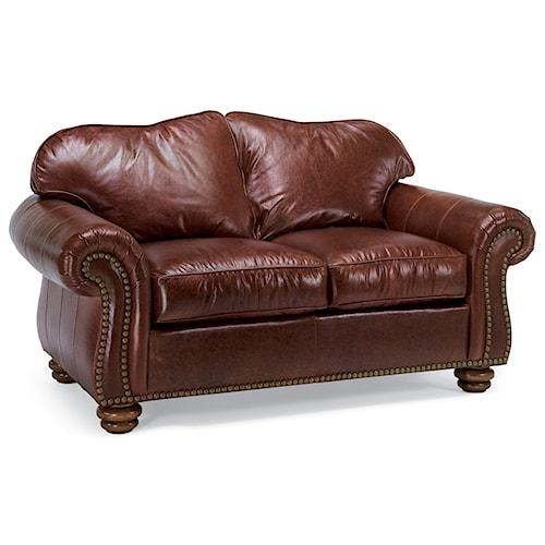 Flexsteel Bexley Traditional Love Seat with Nailhead Trim
