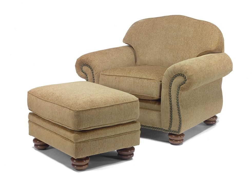Ottoman Shown with Chair.