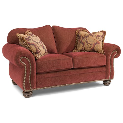 Flexsteel Bexley Traditional Love Seat with Nailhead Trim
