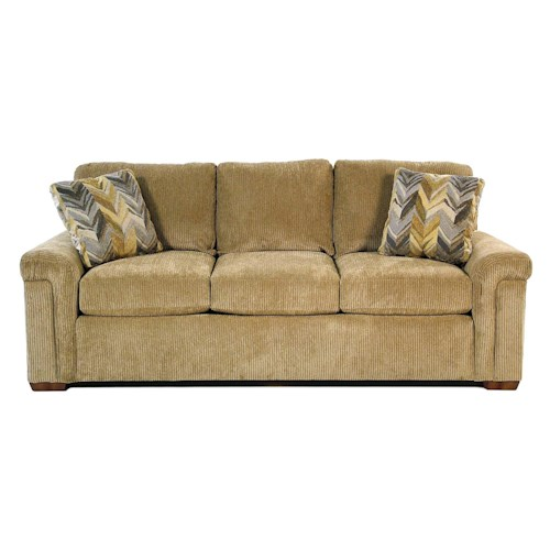 Flexsteel Riverton Casual Sofa with Pillow Arms