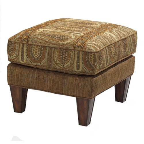 Flexsteel Bradstreet Ottoman with Tapered Legs