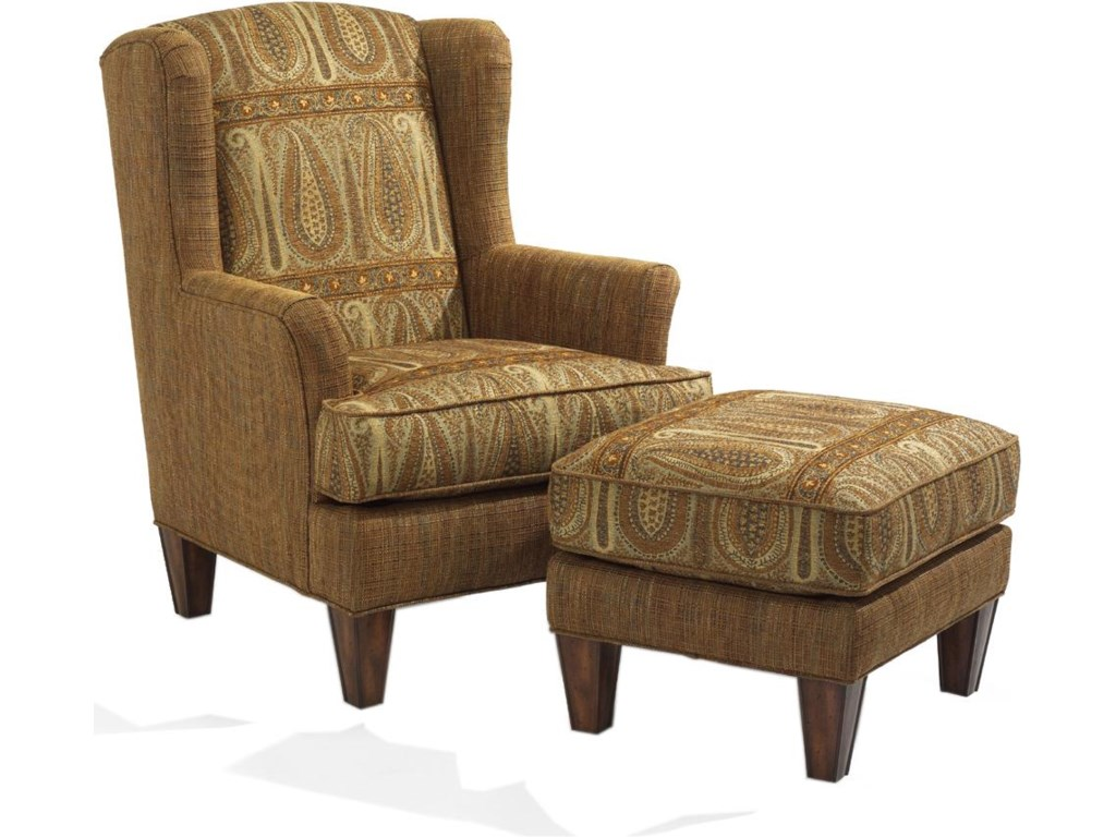 Shown with wing chair