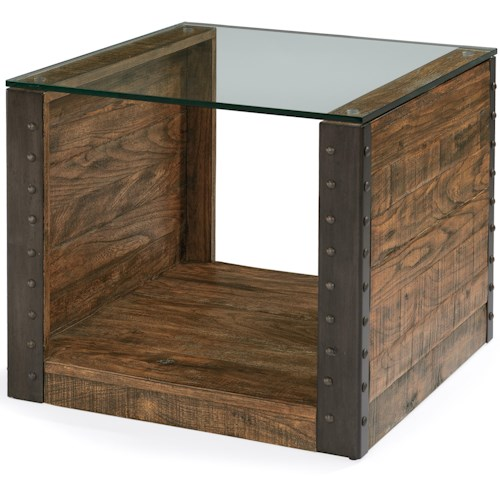 Flexsteel Bridgewater End Table with Glass Top