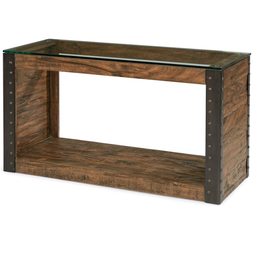 Flexsteel Bridgewater Sofa Table with Glass Top