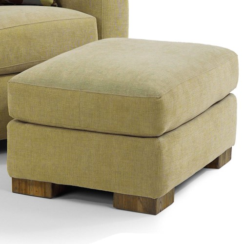 Flexsteel Bryant Contemporary Ottoman with Luxury Cushion